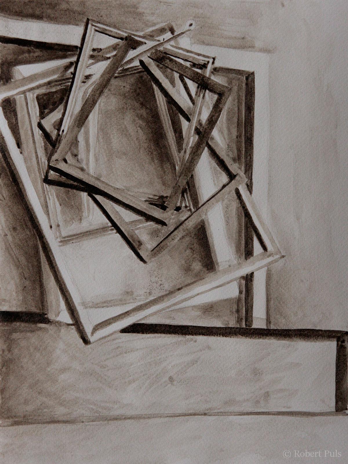 Bilderrahmen Malerei Ausziehtusche