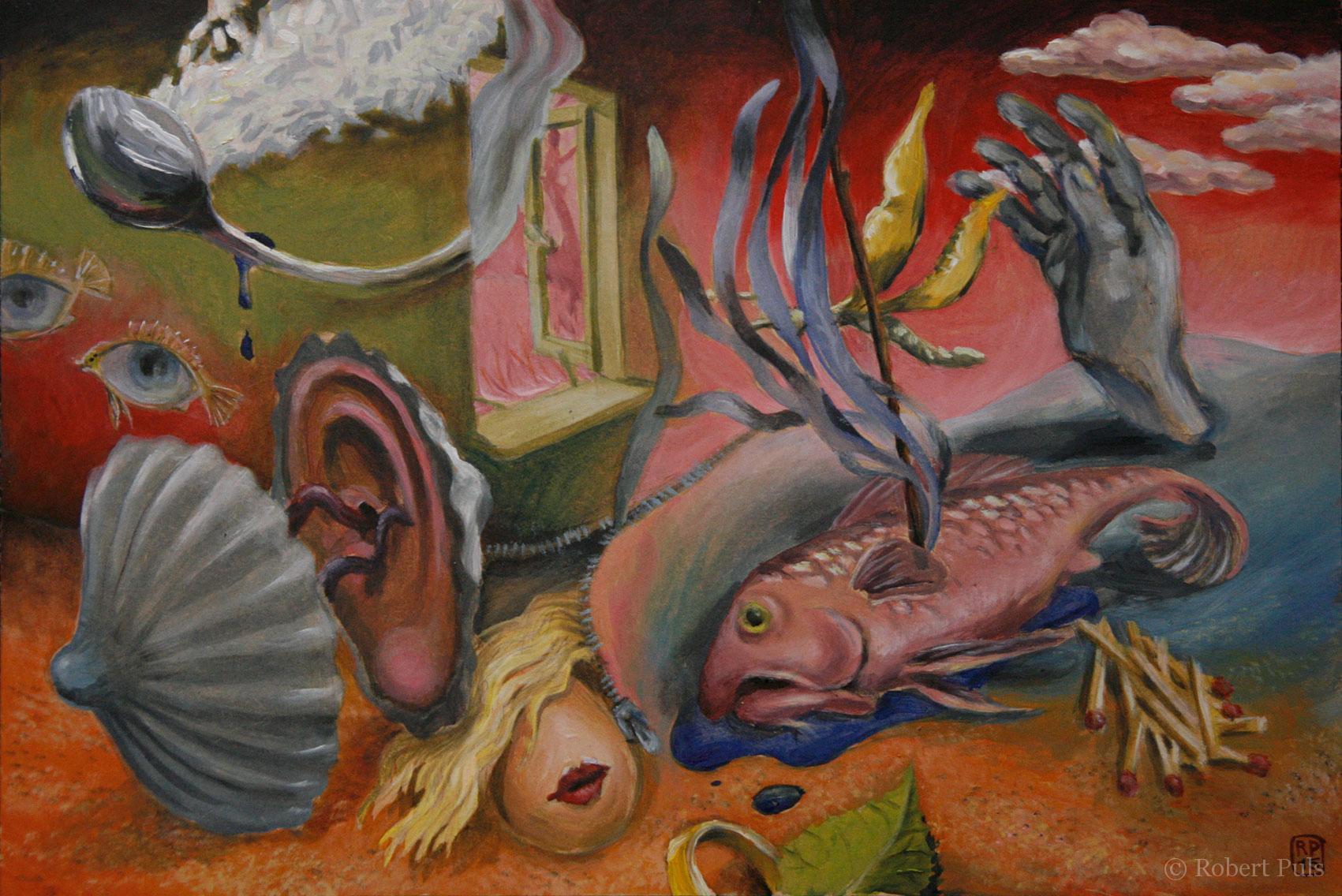 Menschliches 4 Malerei Robert Puls