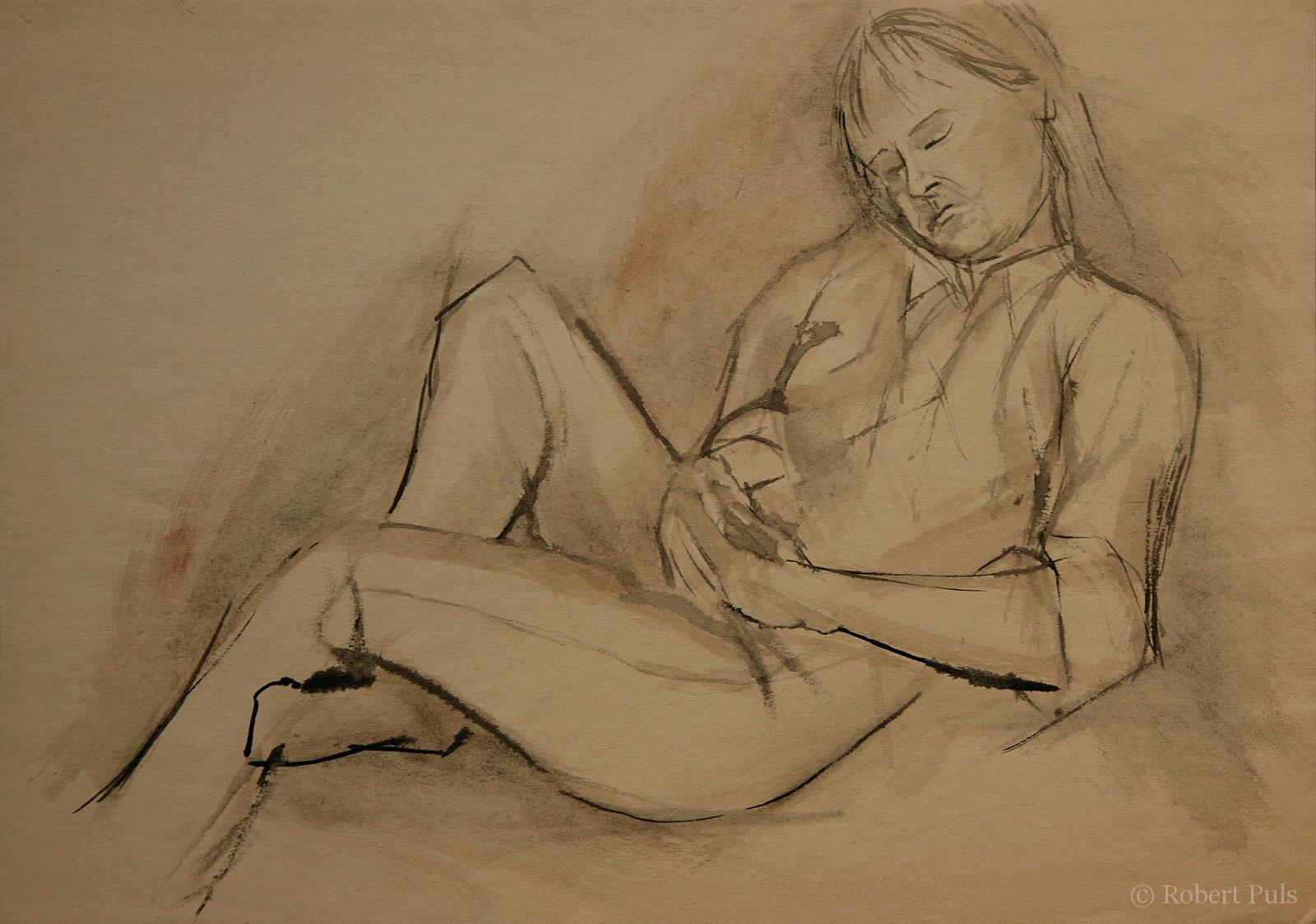 Schlafende Kunst Ruhende Malerei