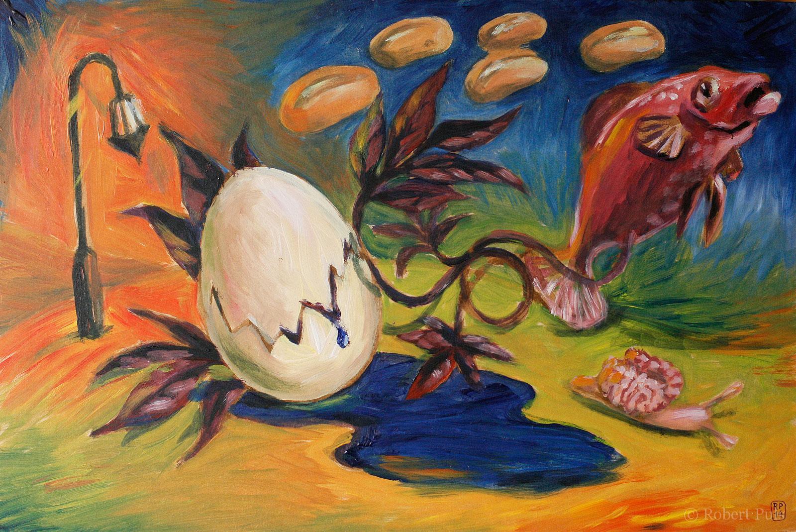 Verbindung Malerei Acryl surreal
