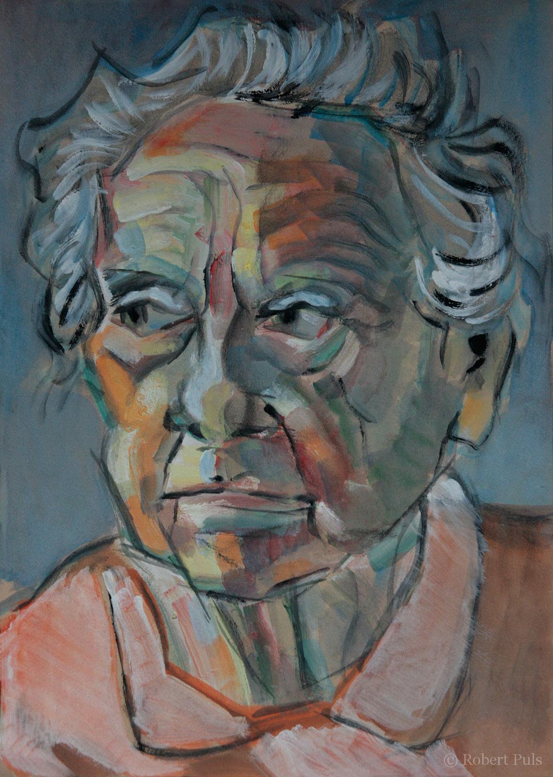 Alte Frau Bild gemalt