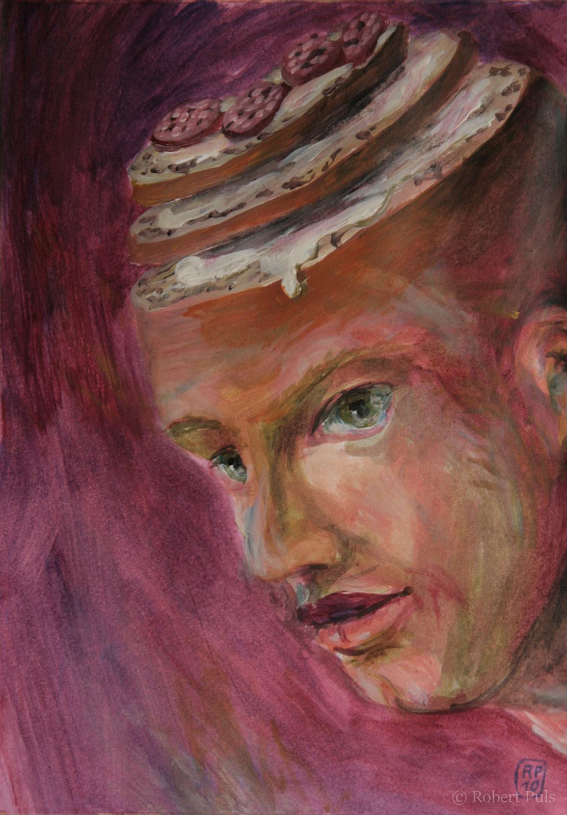Aufschnitt Brotschaften Robert Puls Malerei Illustration