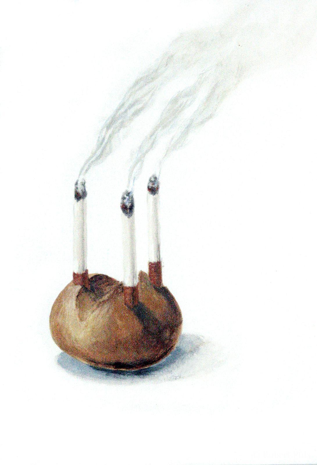 Guten Appetit Brotschaften Brötchen Zigaretten Glückwunsch Malerei