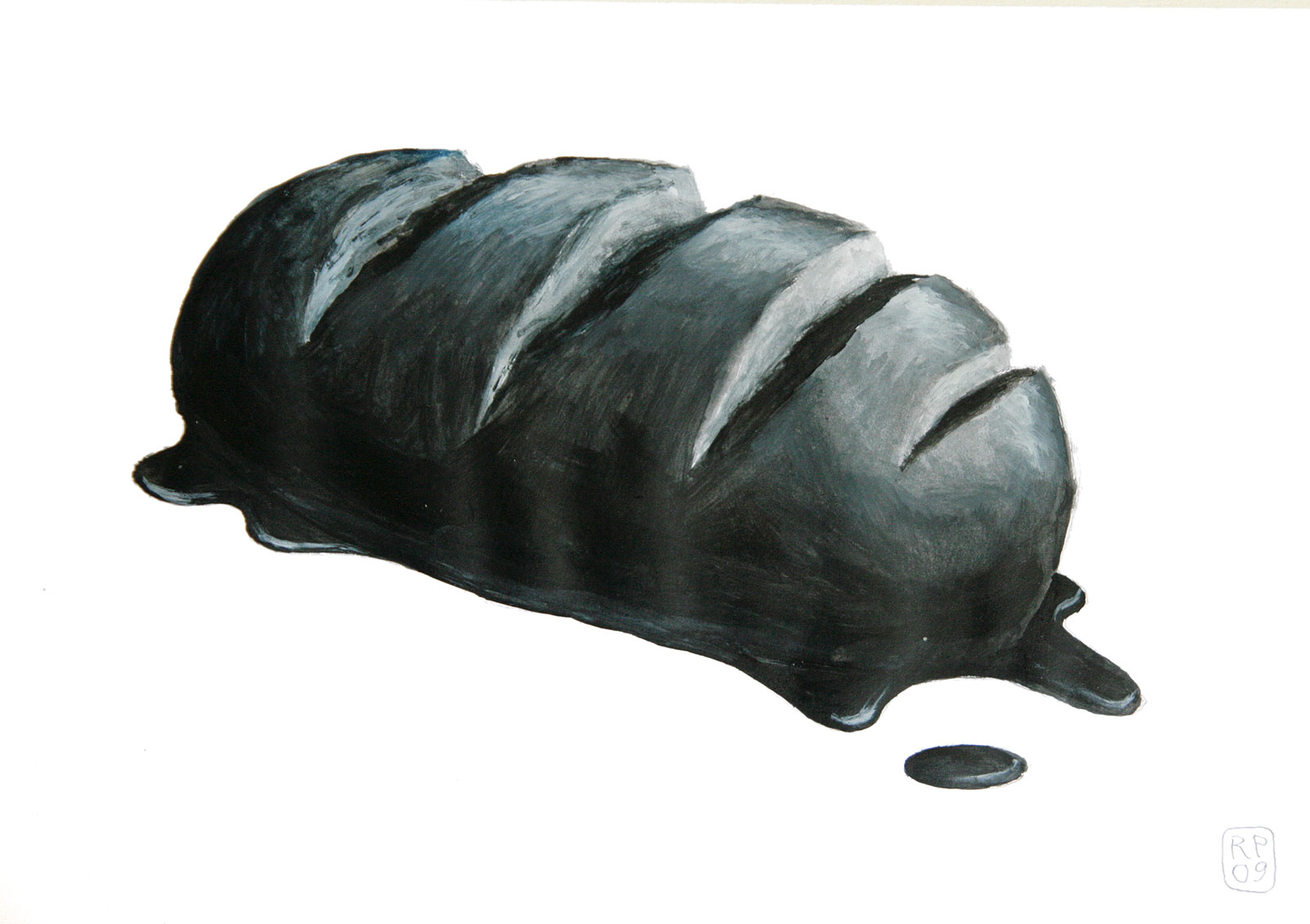 Brotschaften Schwarzbrot Acryl Robert Puls