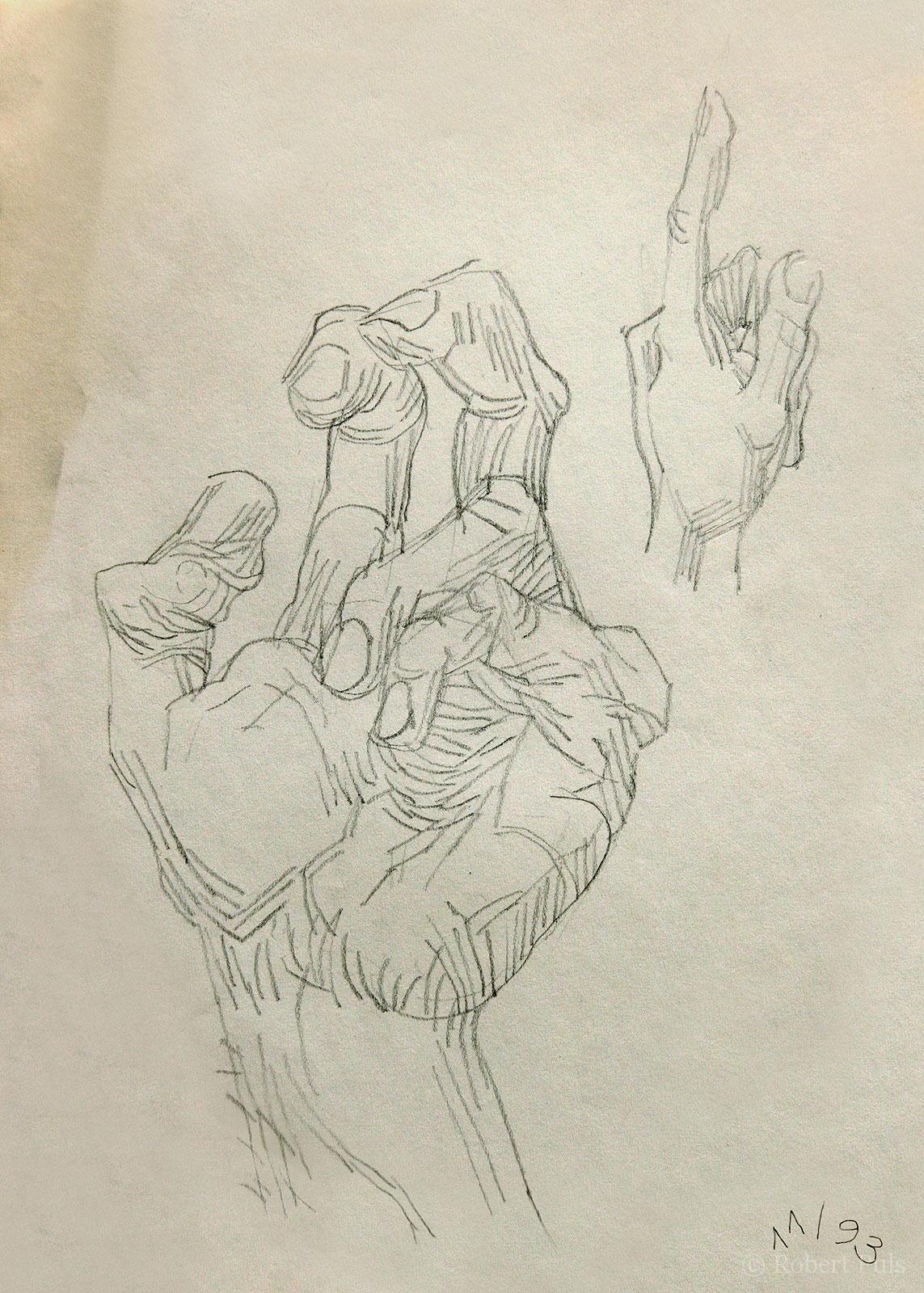 Hände Skizze Zeichnung