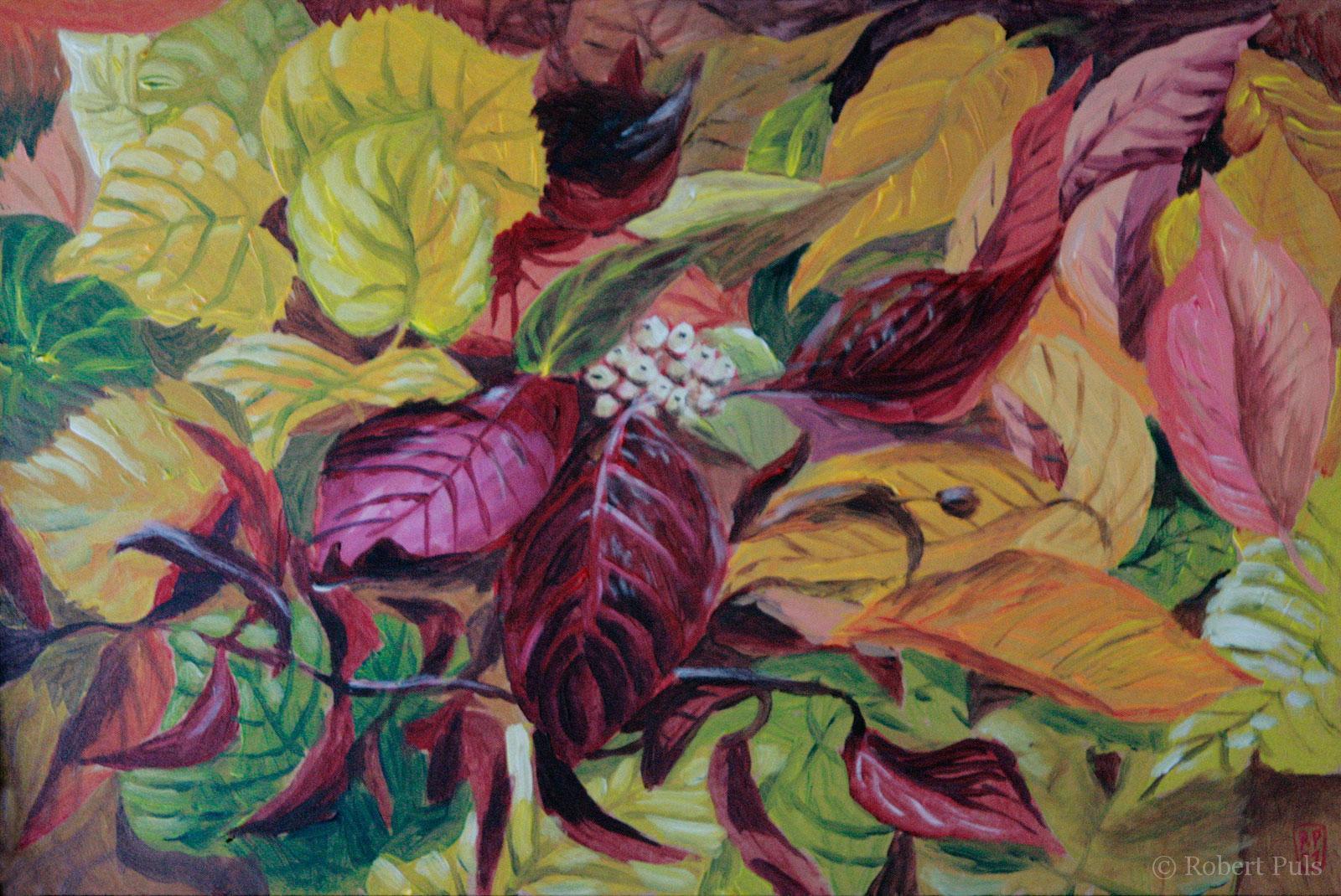 Herbstlaub I Malerei Acryl Robert Puls