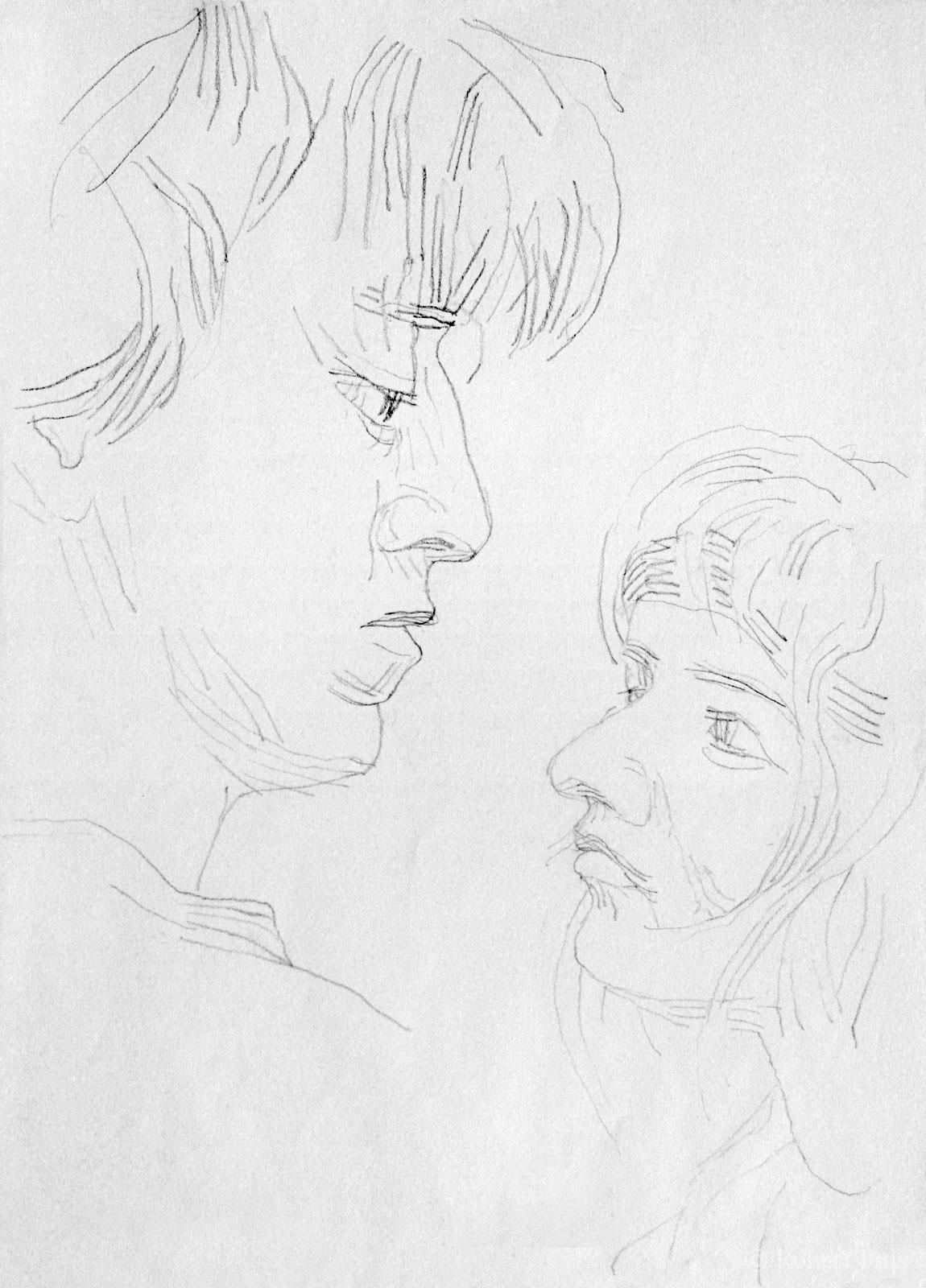 Zeichnung Portrait Gesichter