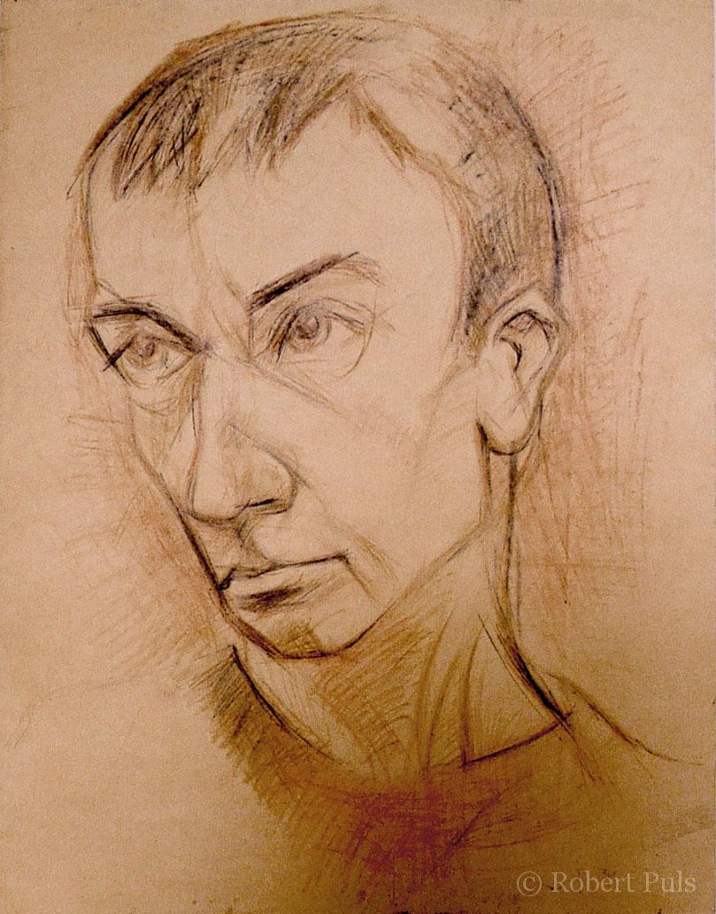 Portrait Kohle Rötel