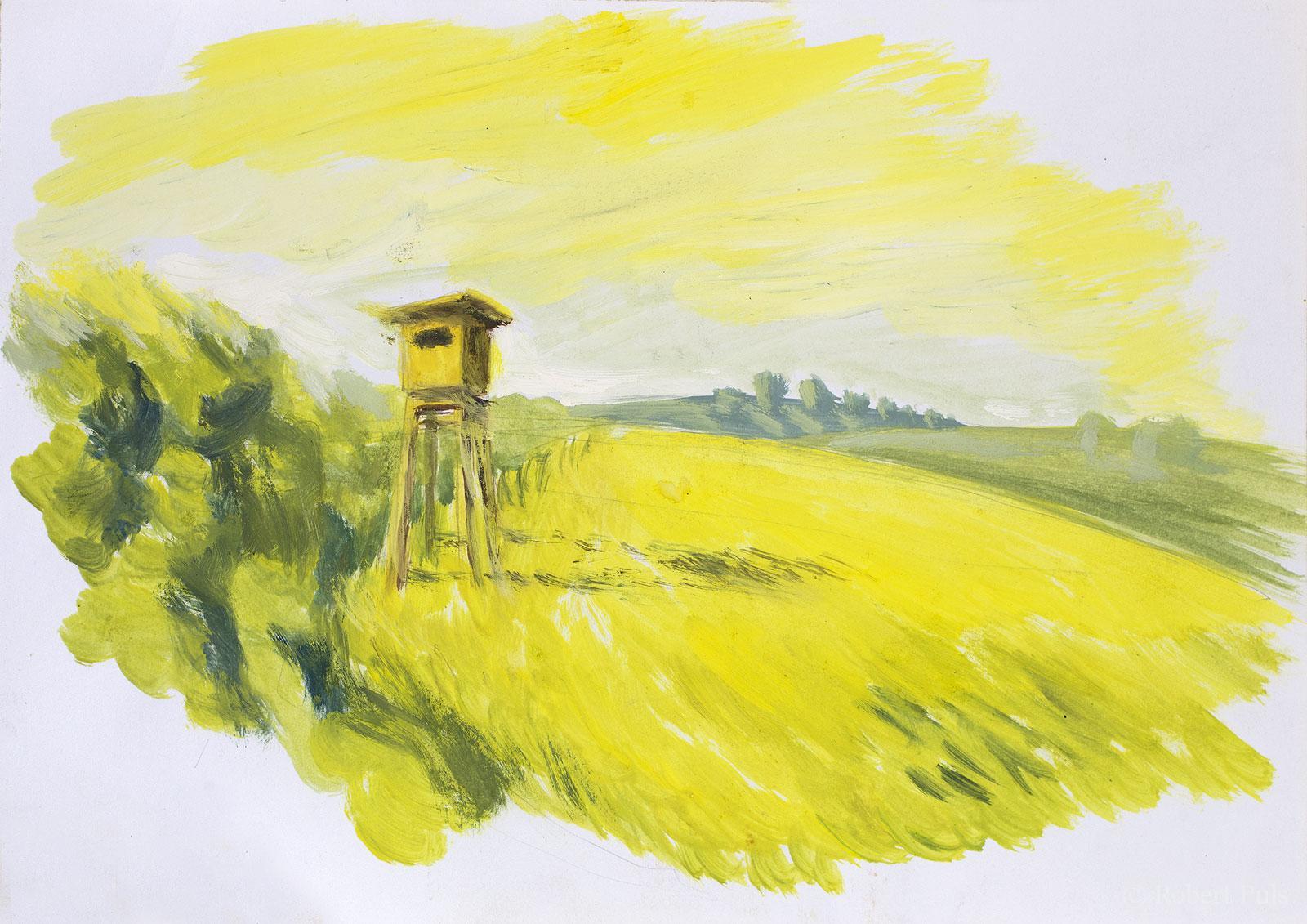 Mecklenburg Landschaft Hochstand
