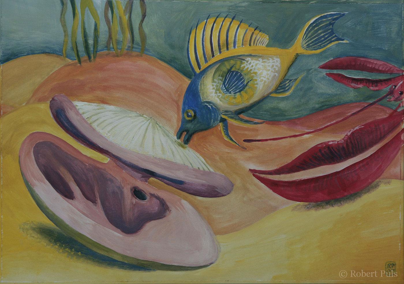 Malerei Robert Puls Menschliches 1