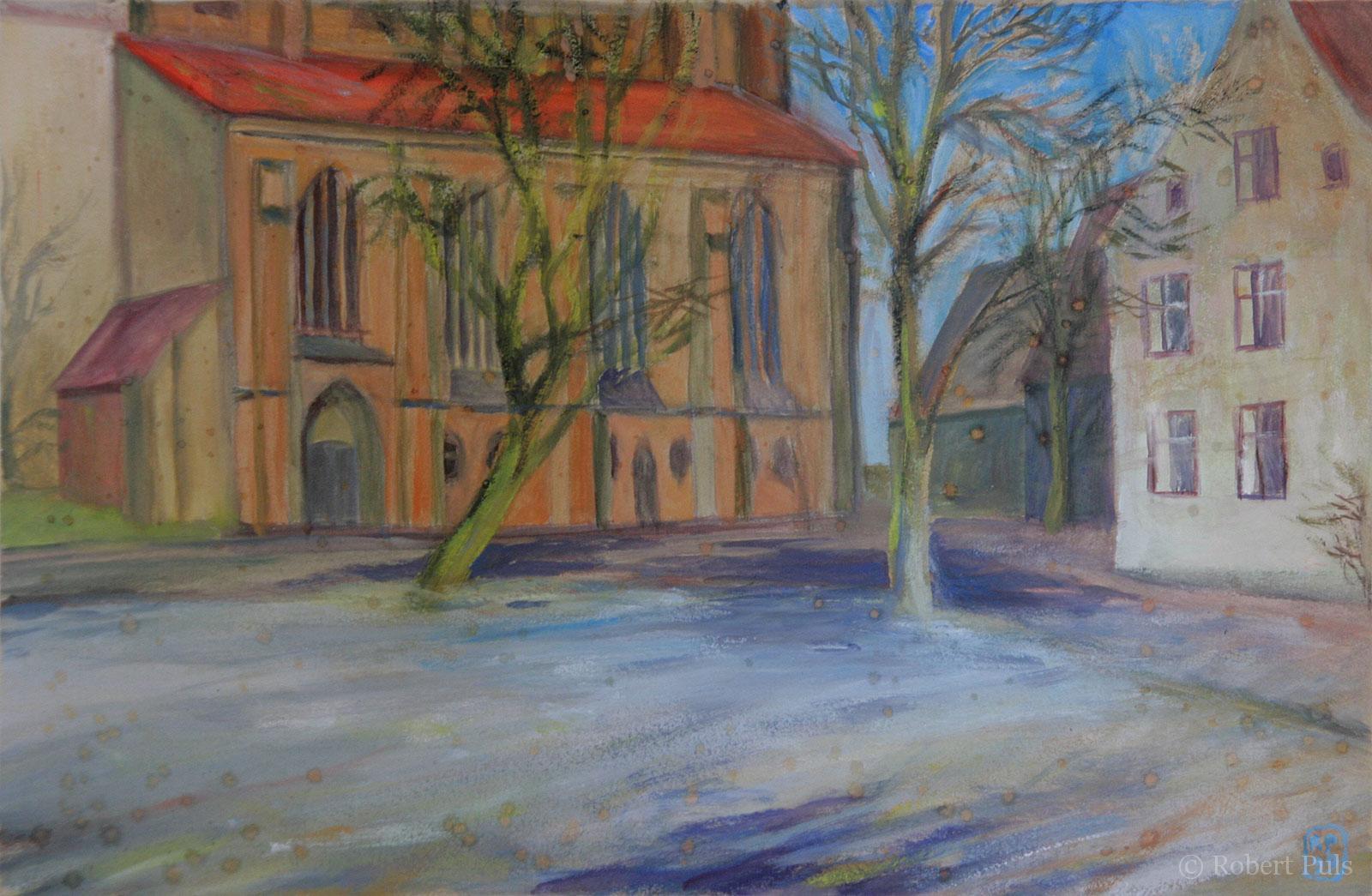 Petrikirche Rostock Altstadt Alter Markt Gemälde