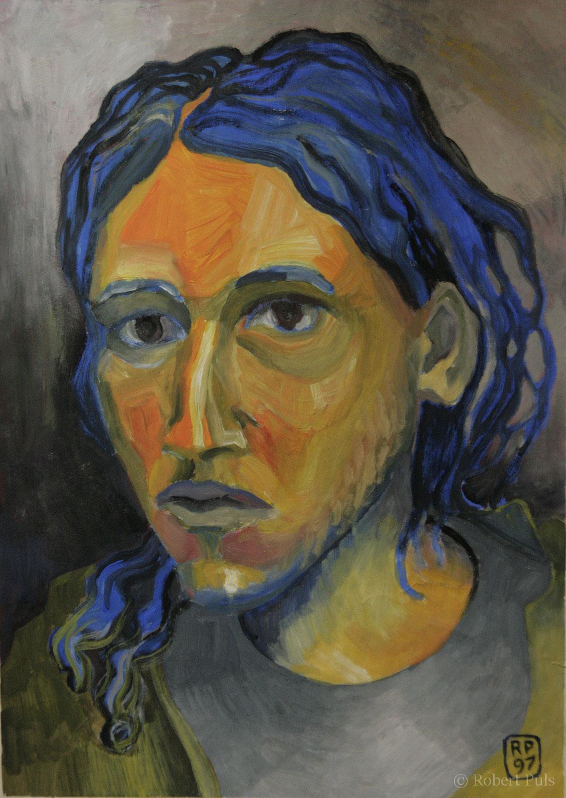 Portrait Wolfram Gesicht Menach Malerei