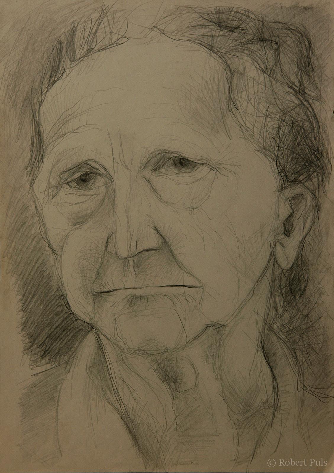Portrait Bleistift gezeichnet Robert Puls