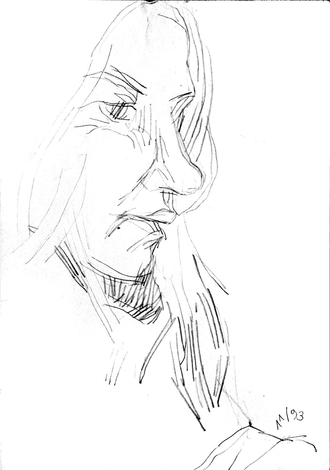 Skizze Portrait Bleistift