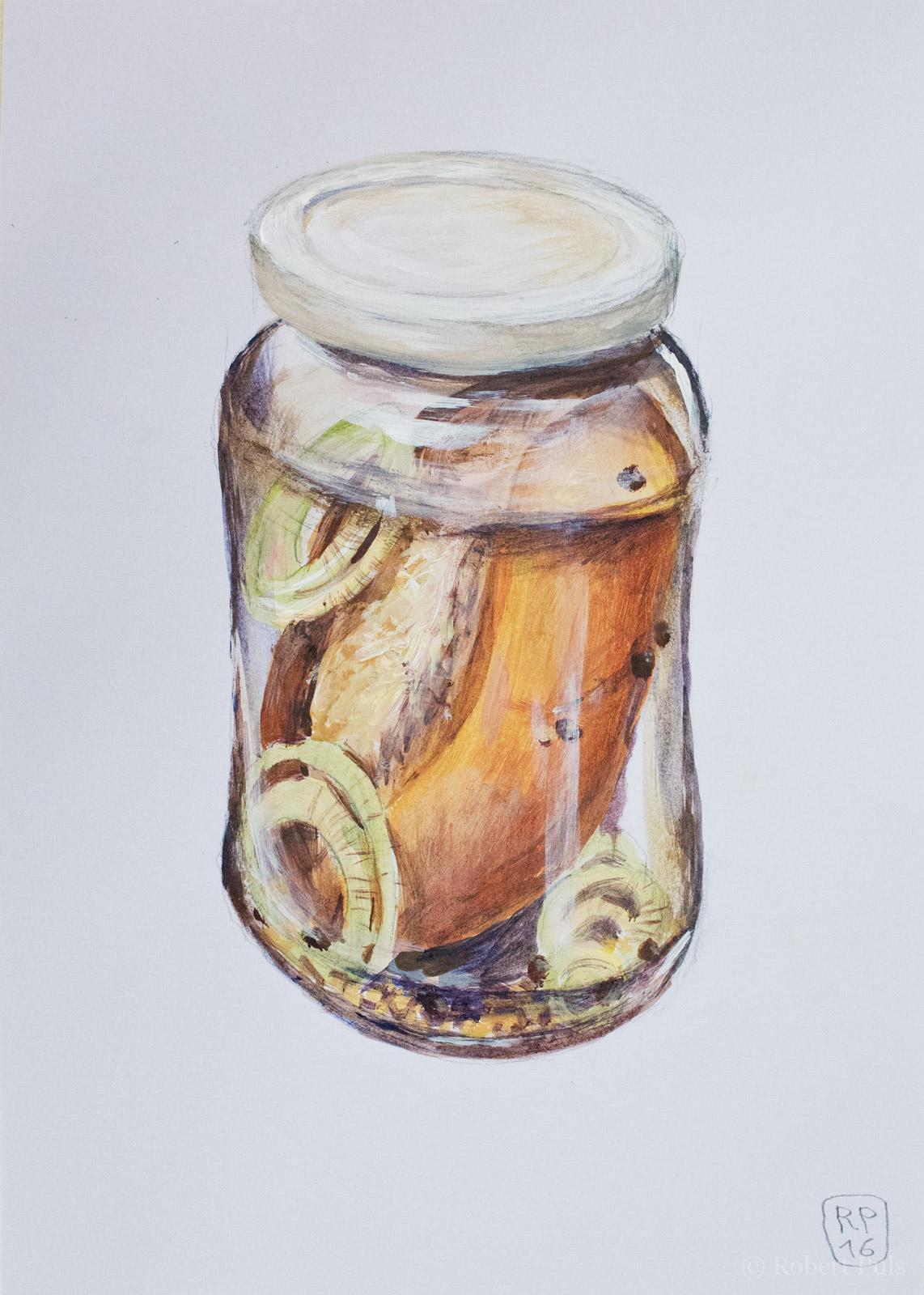 Brotschaften – Reingelegt Brötchen im Glas süß sauer