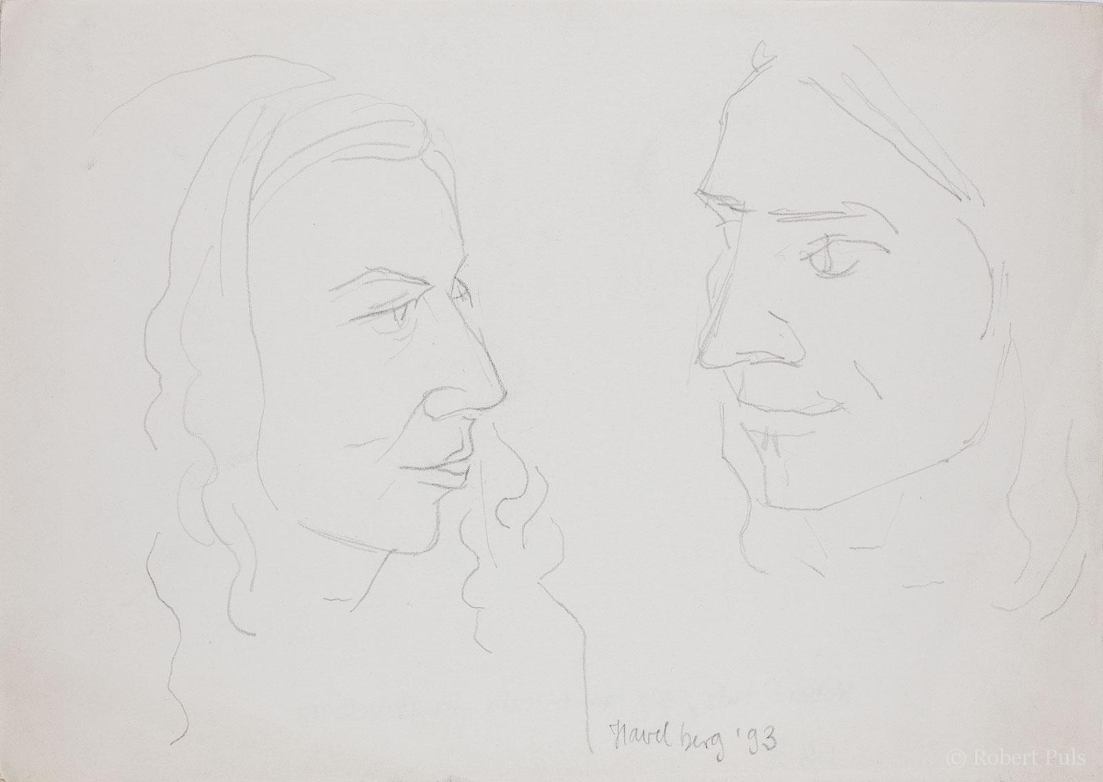 Portrait Havelberg Pferdemarkt Skizze Bleistift