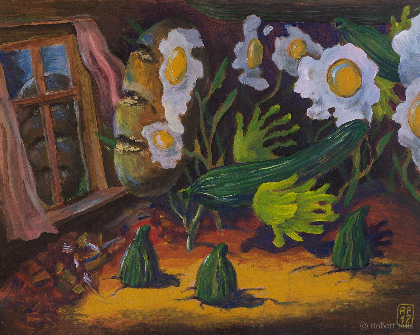 Räume surreal Malerei Robert Puls
