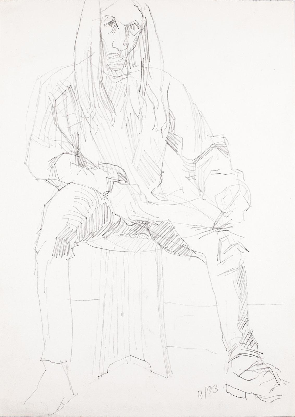 Selbstportrait Bleistift