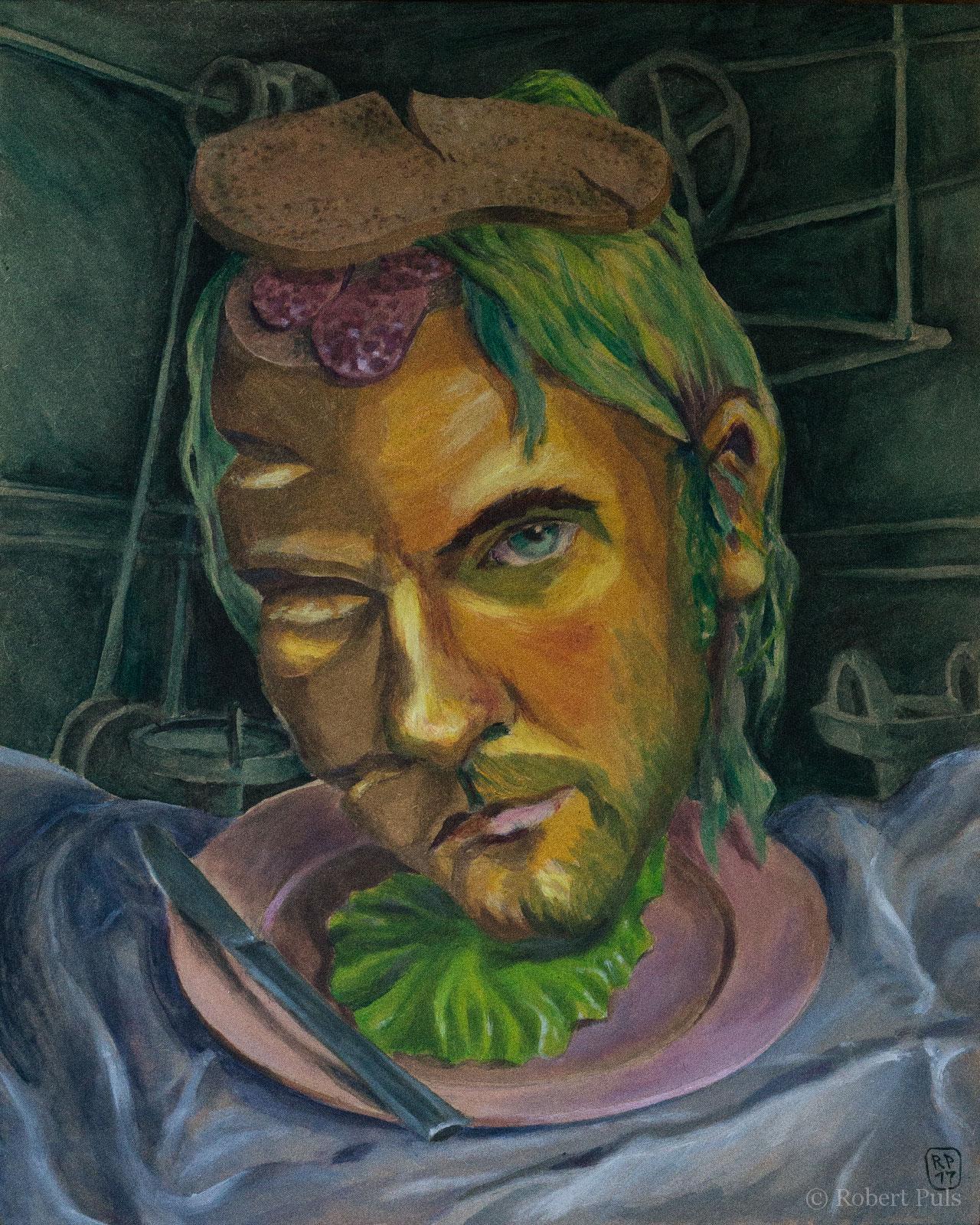 Brotschaften angerichtet Malerei Acryl Robert Puls