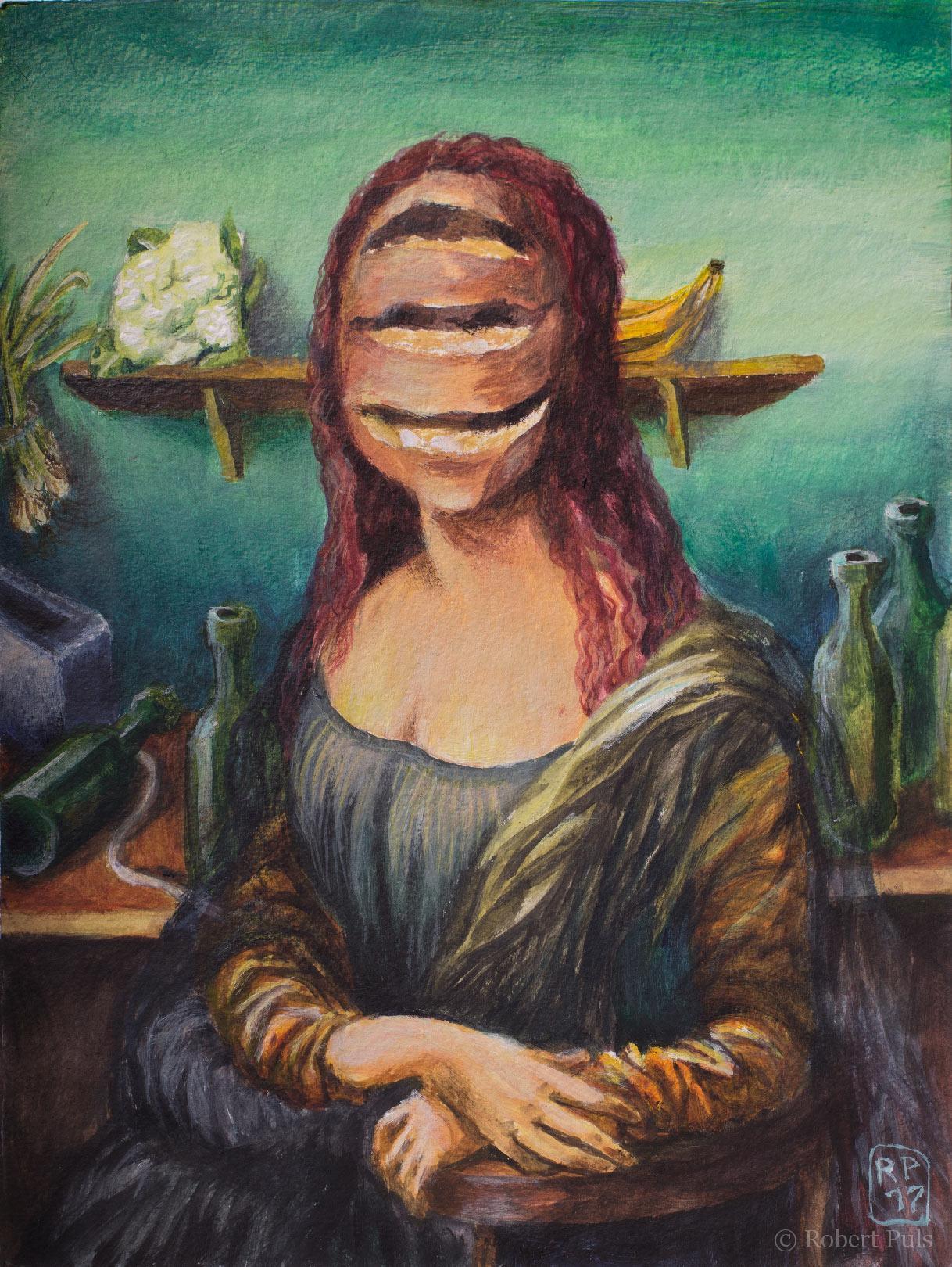 Brotschaften Mona Lisa Gemälde