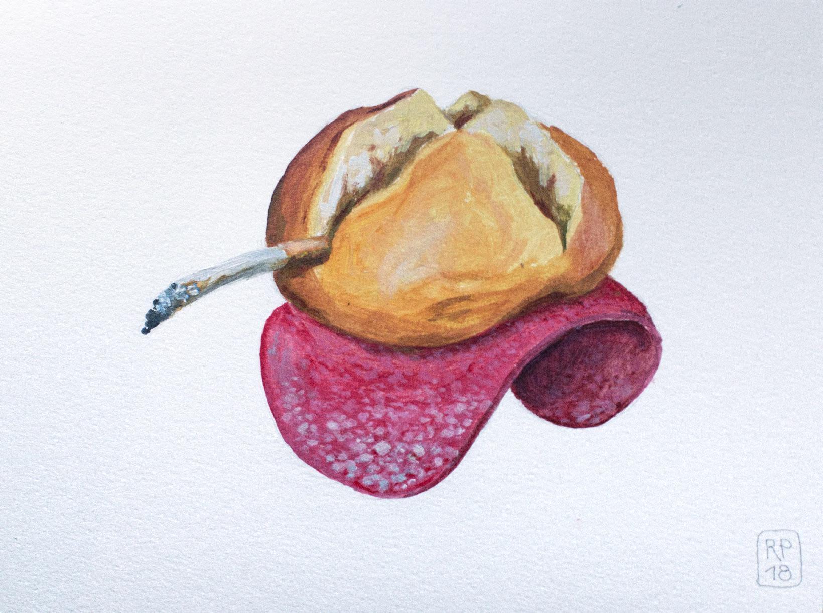 Angriff Malerei Acryl Brotschaften Robert Puls