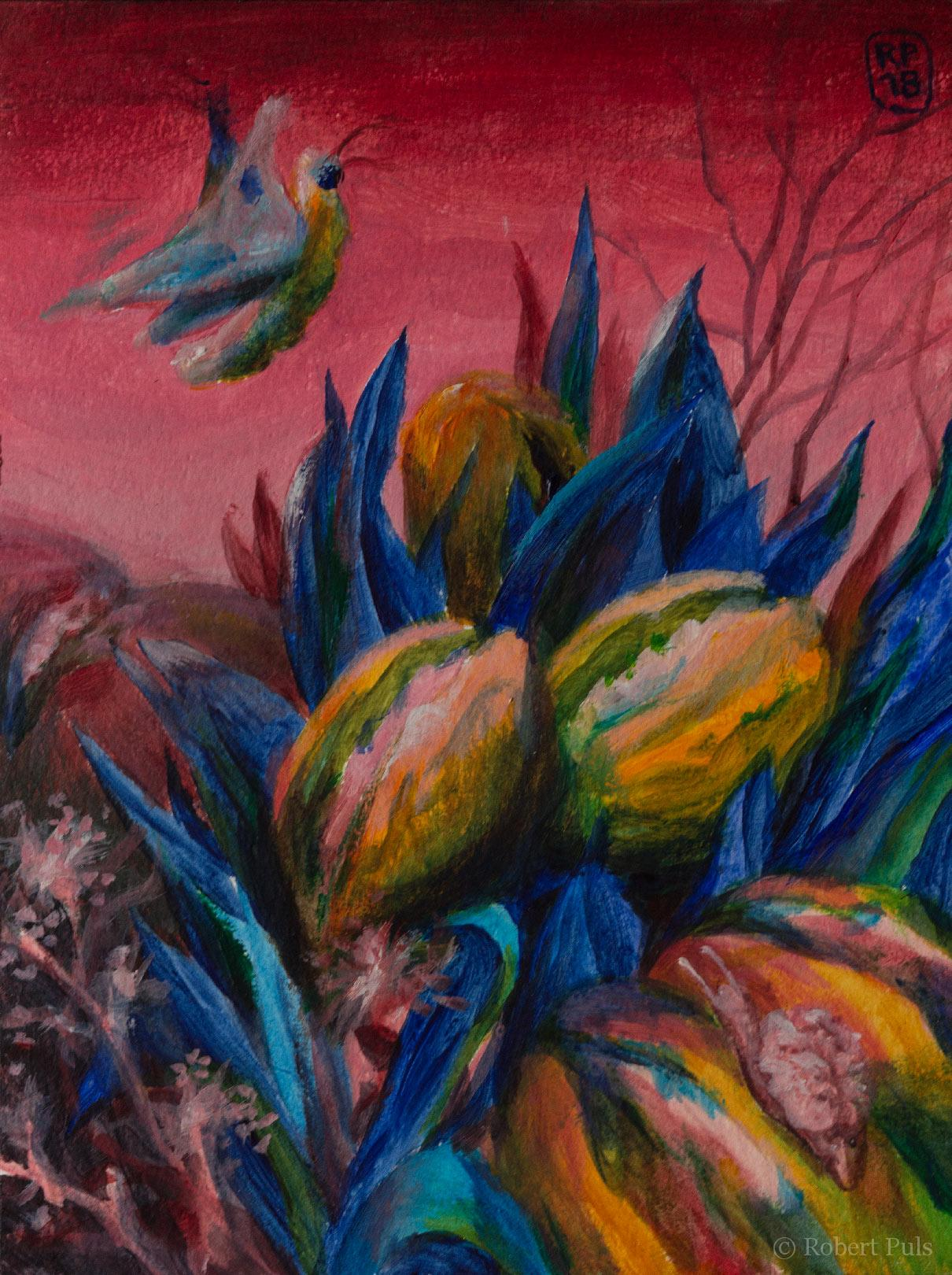 Brotschaften – Waiting for springtime (The return of Milchhörnchen) Robert Puls Malerei