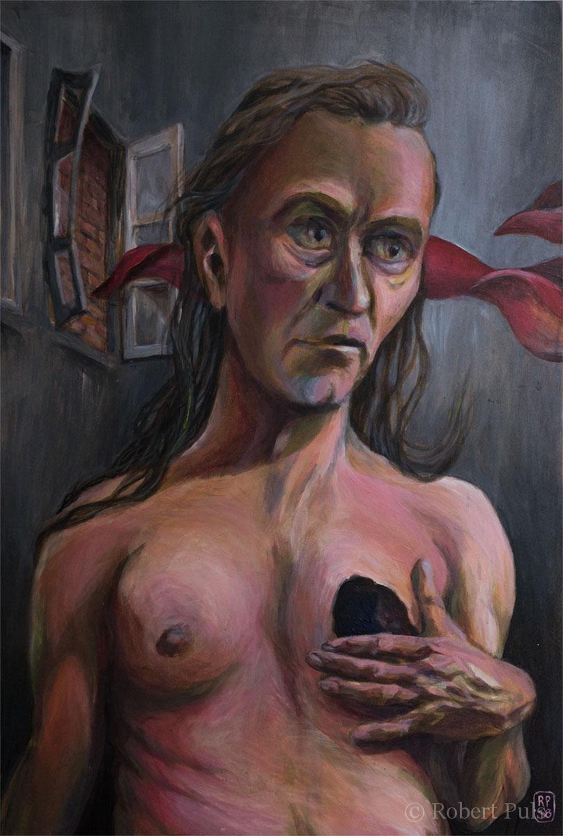 Portrait Robert Puls Acryl Gemälde