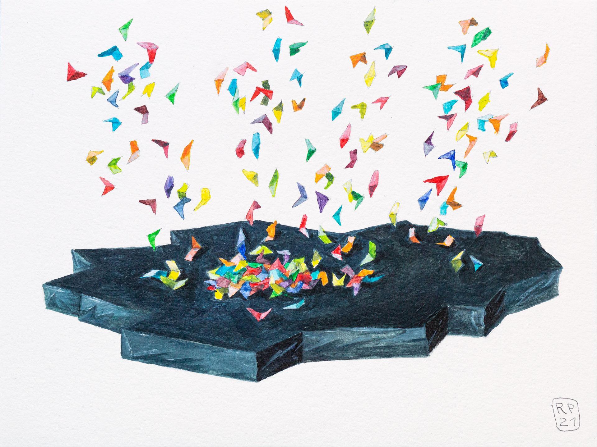 Undurchdringlichkeit Malerei Acryl Robert Puls – Januar 2021