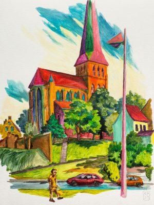Petrikirche Rostock Altstadt Malerei