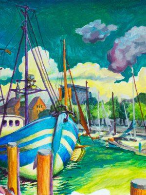 Stadthafen Rostock Museumshafen Malerei maritim