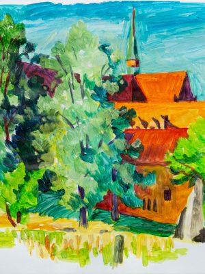 Kloster Chorin, Malerei Acryl, Robert Puls